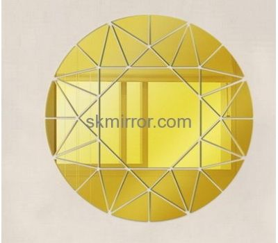 Customized design large acrylic mirror decorative wall mirrors round ...