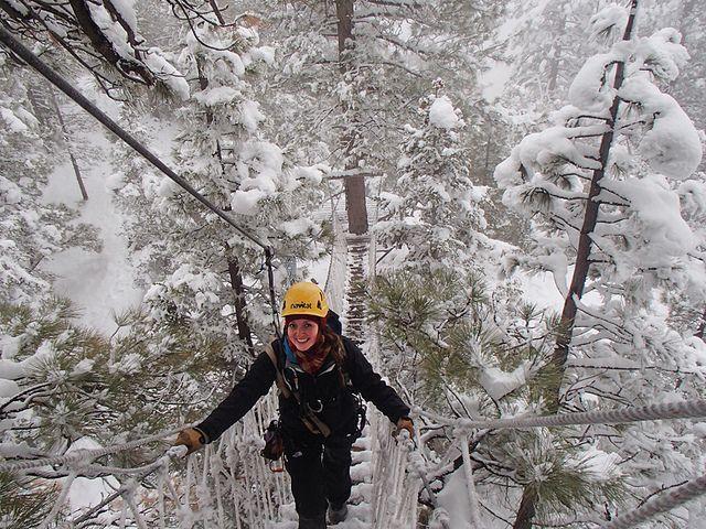 Winter Ziplining At Navitat Canopy Adventures In Wrightwood Ca Navitat Zipline Outdoors Adventure Ziplining Wrightwood