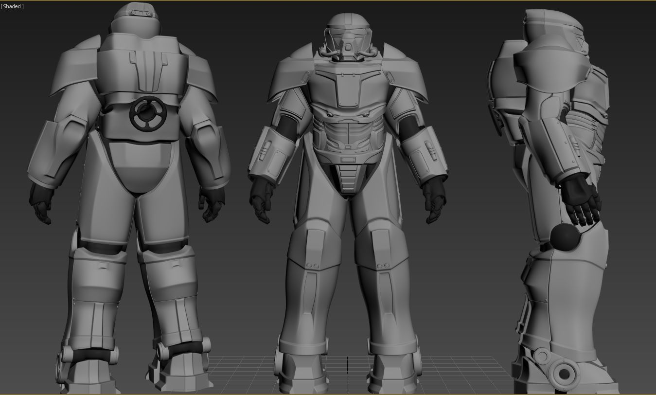 Sentinel Power Armor Fallout 4 Creation Club - Year of Clean