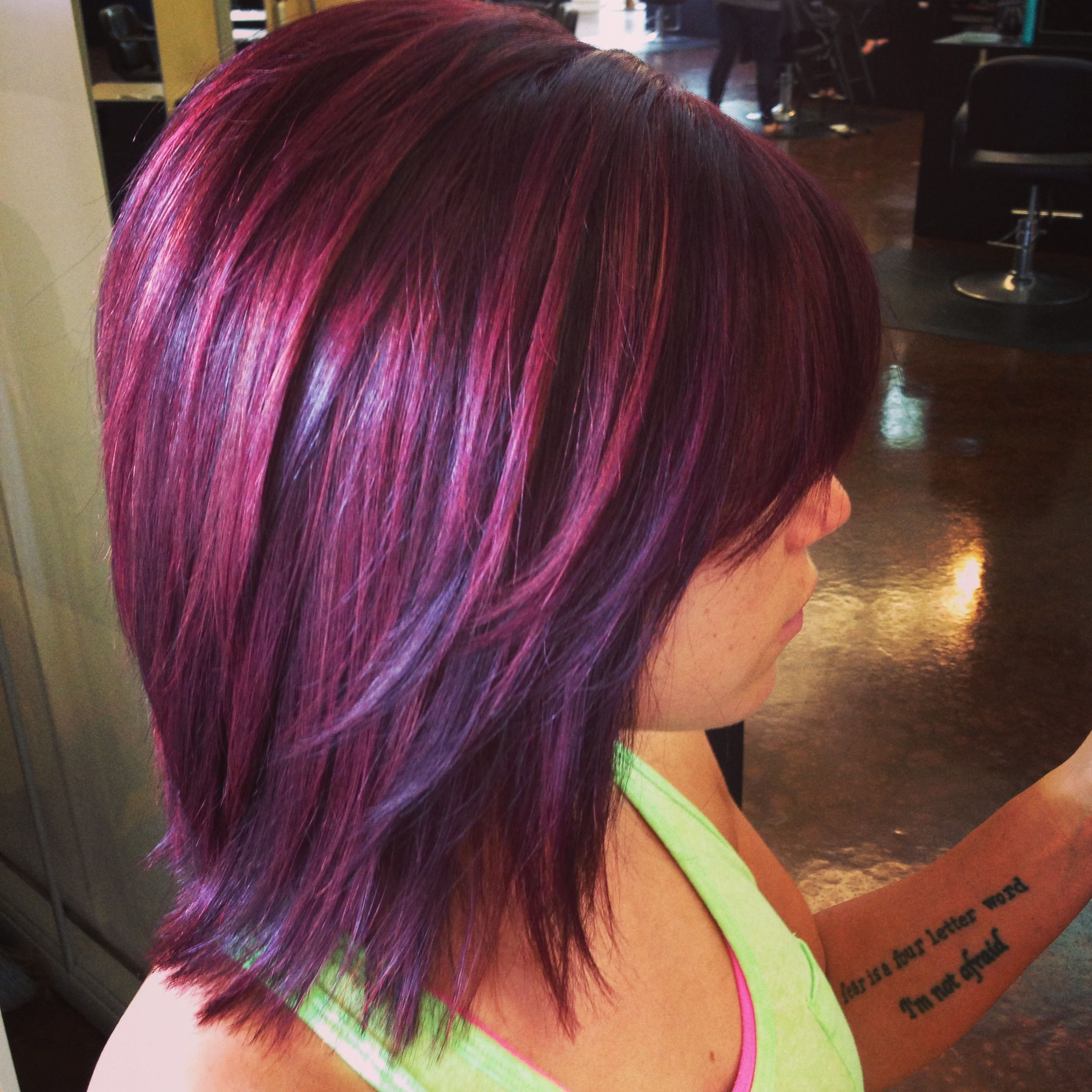 Goldwell Color 6rv And 7pk Highlights Hair In 2019