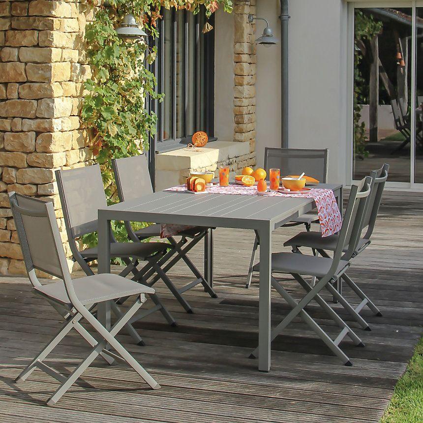 Lot de 2 chaises pliantes Thema   Agrément de jardin, Chaise ...