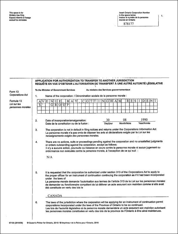 Articles Of Continuance  Corporate Law    Corporate Law