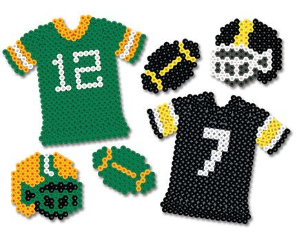 game on green and gold perler bead projects fu ball sport pinterest b gelperlen perlen. Black Bedroom Furniture Sets. Home Design Ideas