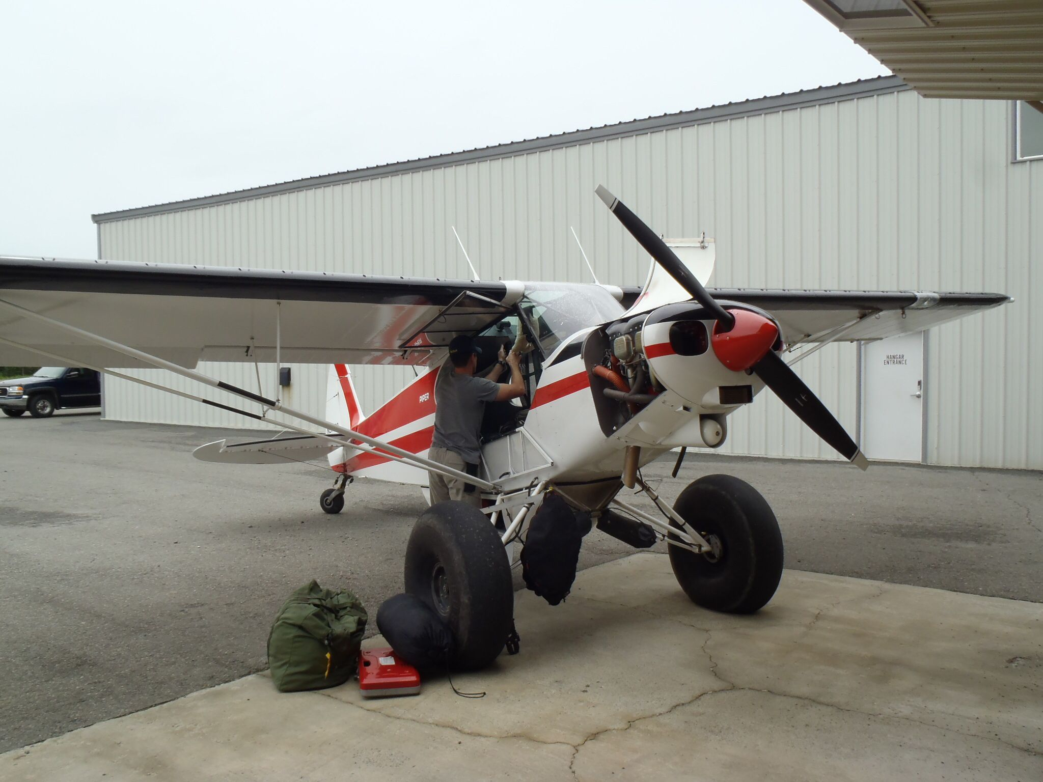 Packing the plane for the trip down the Katmai