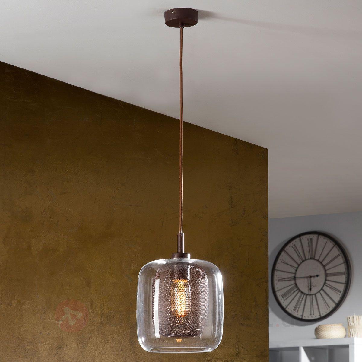Good Fox Glas Pendelleuchte mit doppeltem Schirm sicher u bequem online bestellen bei Lampenwelt