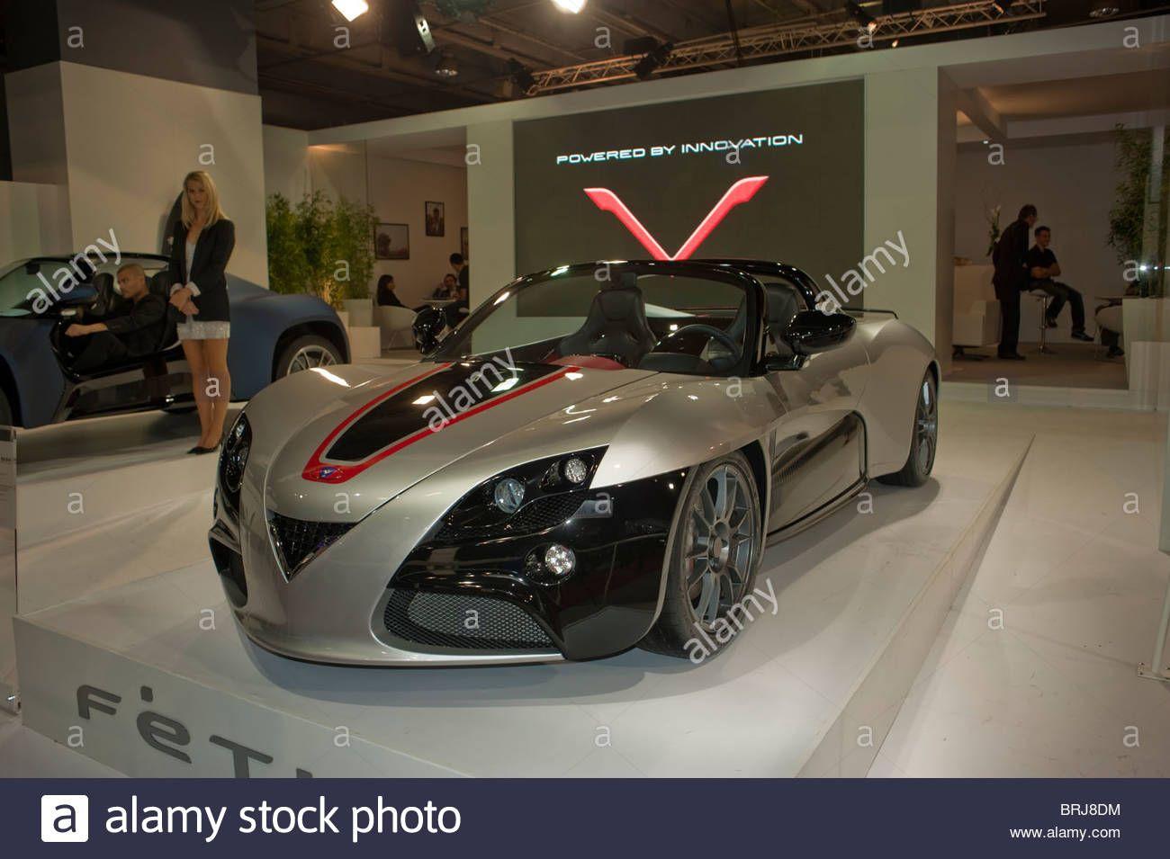 Luxury Electric Cars Paris France Paris Car Show Venturi Luxury Electric Car Show Electric Cars Car