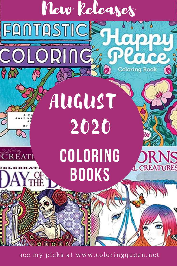 Coloring Books New Releases August 2020 Coloring Queen Coloring Books Books New Releases Books