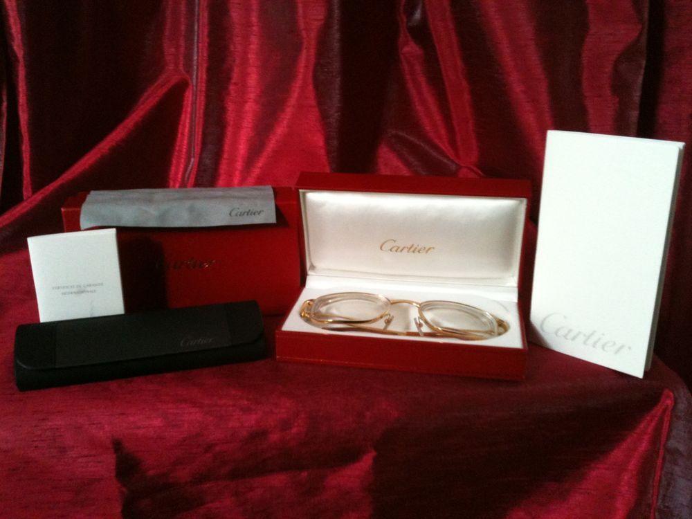 Cartier Glasses Gold 18k Plated Posh Sunglasses Retails $1890 ...