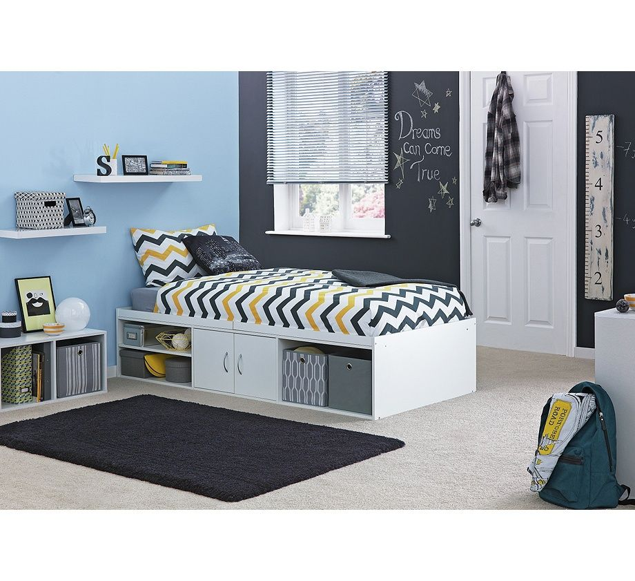 Buy Declan Single Cabin Bed with Storage White at Argos