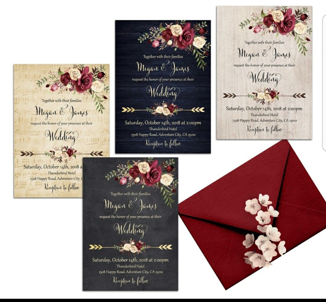 Boho wedding invitation | Wedding Inspiration | Pinterest