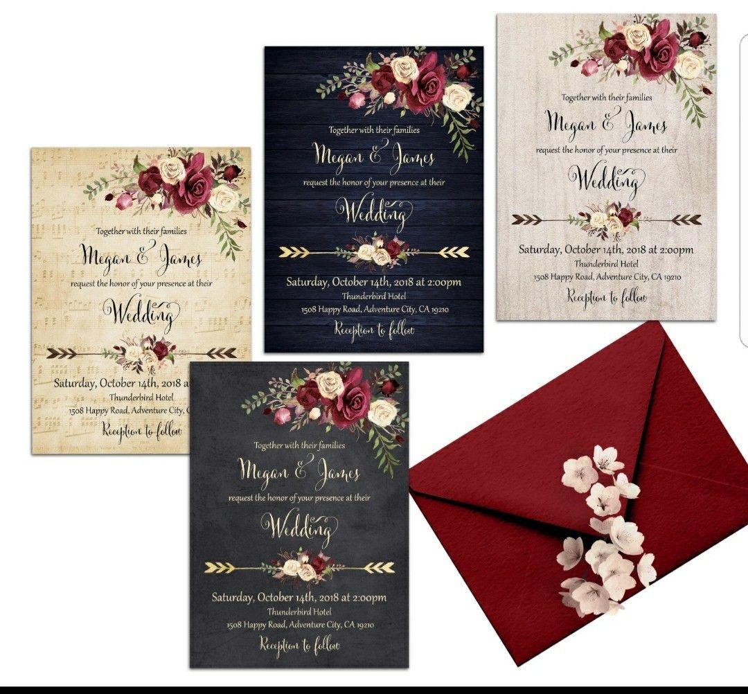 Boho wedding invitation | Wedding Inspiration | Pinterest