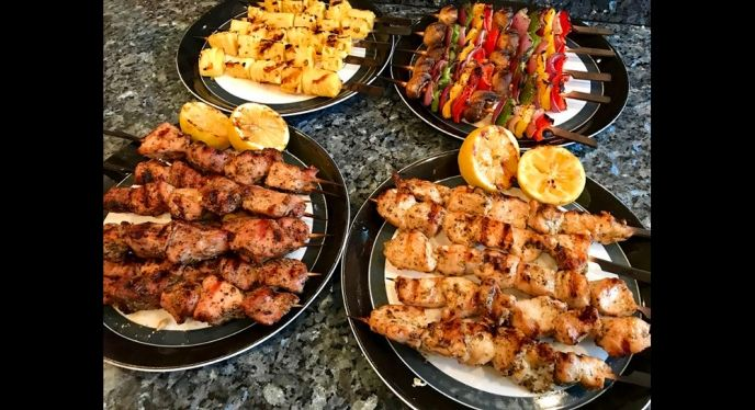 Grilled Kabobs Grilling Kabobs Kabobs Kebabs On The Grill