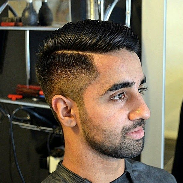 Fade Haircut With Side Part