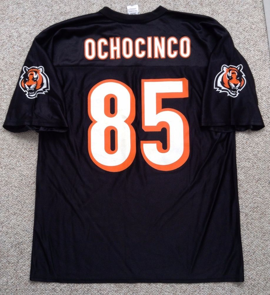 8a5f7d3f7 Vtg CINCINNATI BENGALS CHAD OCHOCINCO JERSEY #85 Solid Black ADULT LRG  men/women #NFL #CincinnatiBengals