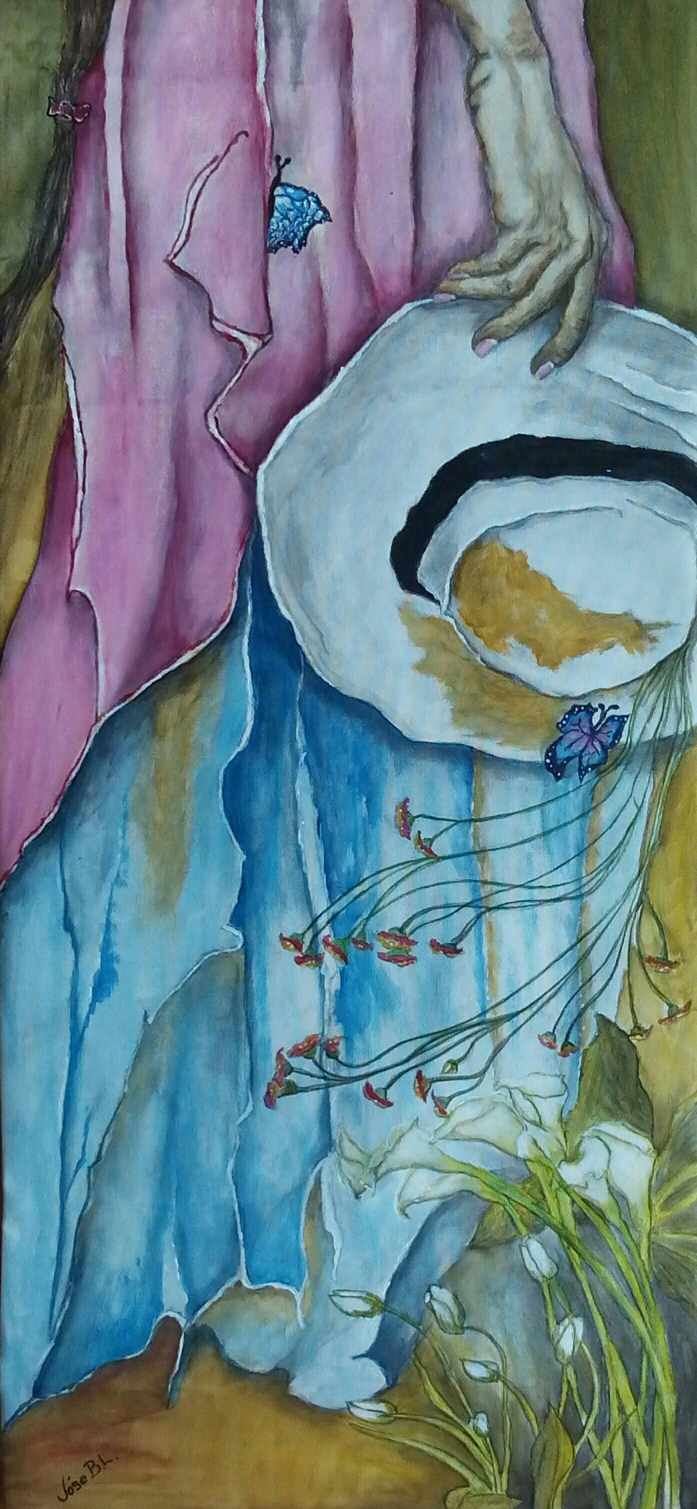 "VENDIDA ""Walk with me"" Acrylic on canvas 84 x 39 cm Author: José B.L."