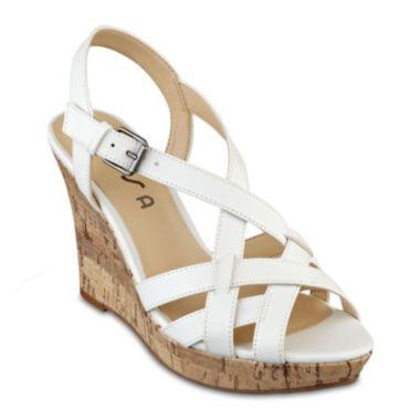 386131381710 Unisa® Alason Wedge Sandals found at  JCPenney