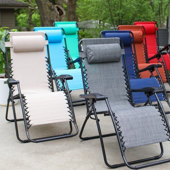 Amazing Zero Gravity Chair Outdoor Patio Furniture Deck Steel Frame Foldable 8  Colors #Unbranded