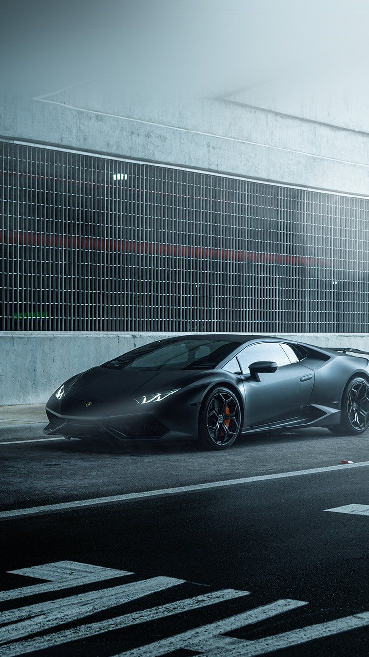 LAMBORGHINI HURACAN VELLANO MATTE BLACK CAR WALLPAPER HD IPHONE