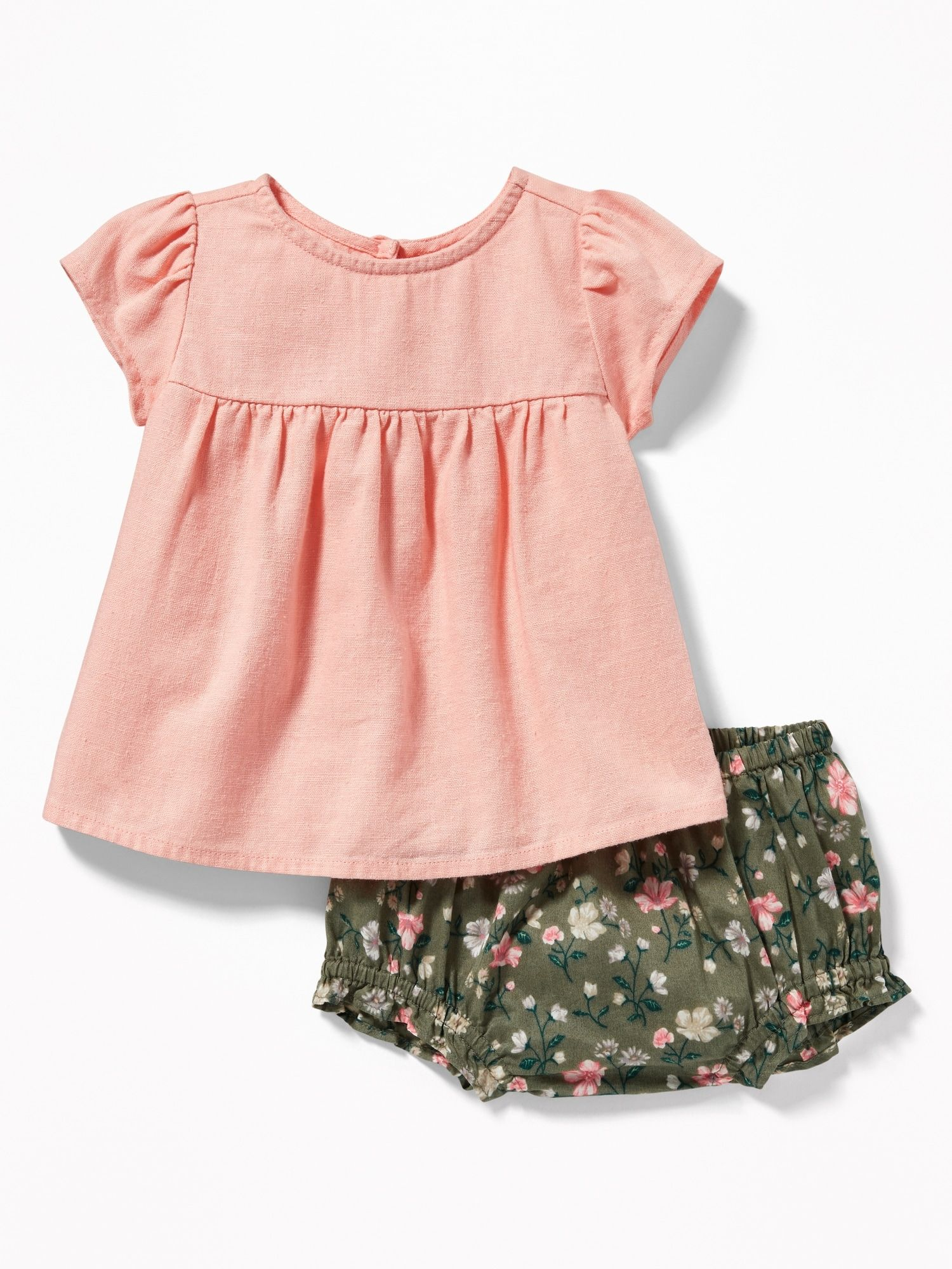 2285217f8 Linen-Blend Top & Bloomers Set for Baby | baby girl | Disney baby ...