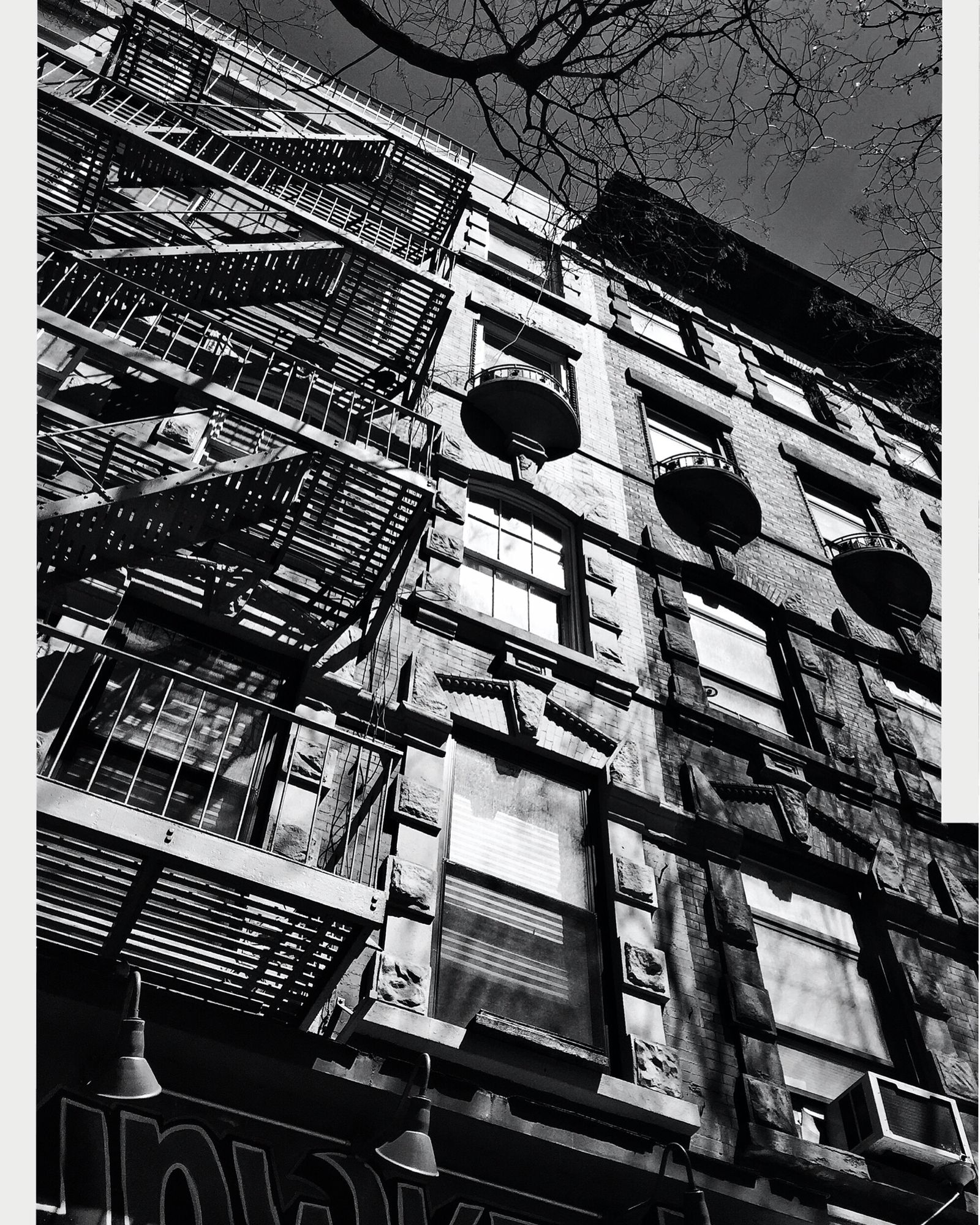 14th Street architecture rowhouse NYC streetscape fireescape