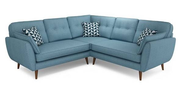 Dfs 4 Seater Corner Sofa 2 C 2 Zinc Express In 2020 French Connection Sofa Teal Sofa Sofa
