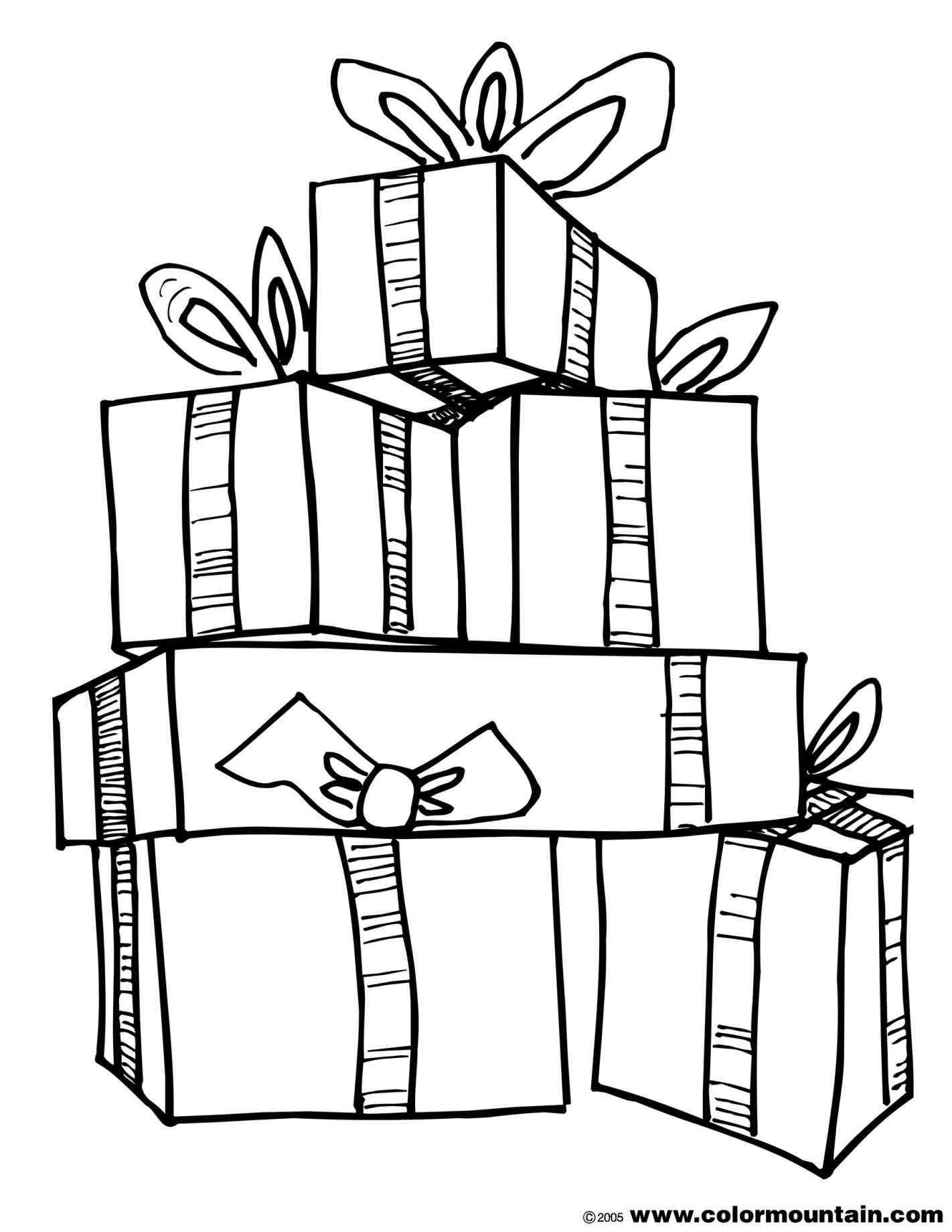 New Post Christmas Present Clip Art Black And White