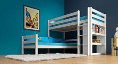 Delinea Etagenbett : Etagenbett stockbett kenny weiß lackiert buche massiv vollholz