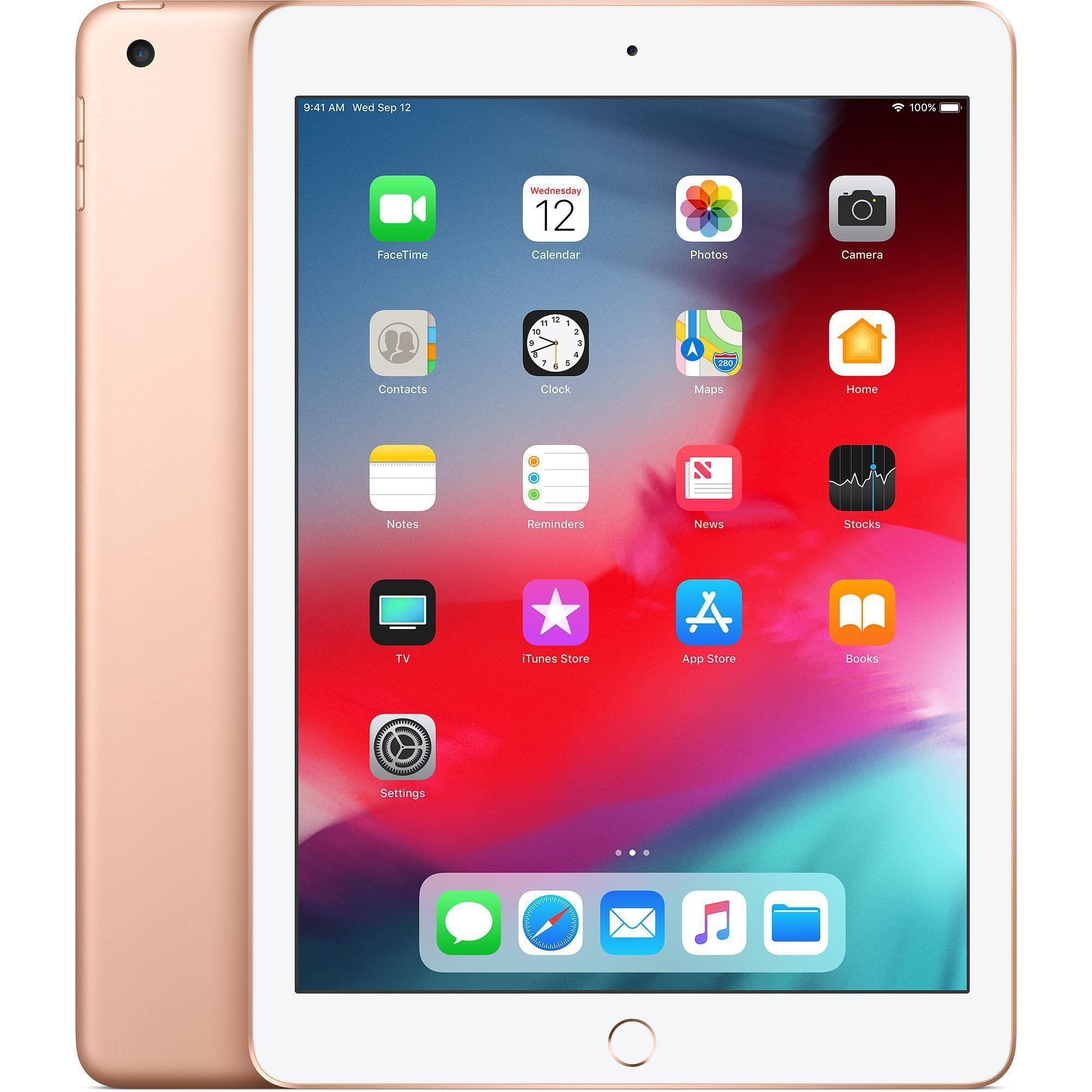 Ipad 9 7 Inch 6th Gen March 2018 128gb Gold Wi Fi Apple Ipad New Apple Ipad Refurbished Ipad