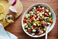 Chickpea Veggie Salad: Best. Salad. Ever!