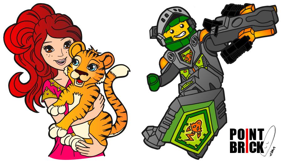disegni da colorare lego nexo knights e friends  disegni