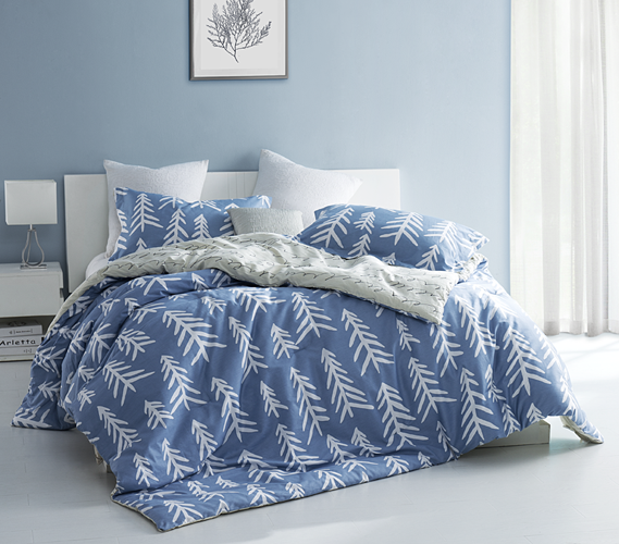 Patterned Twin Xl Comforter Blue And White Reversible College Comforter Set Bed Linens Luxury Dorm Comforters Comforter Sets