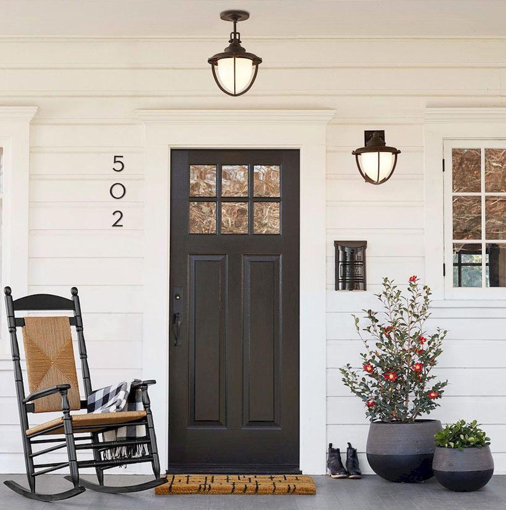 33 Stunning Farmhouse Front Porch Decor Ideas Roomodeling Modern Farmhouse Exterior House With Porch Brick Exterior House