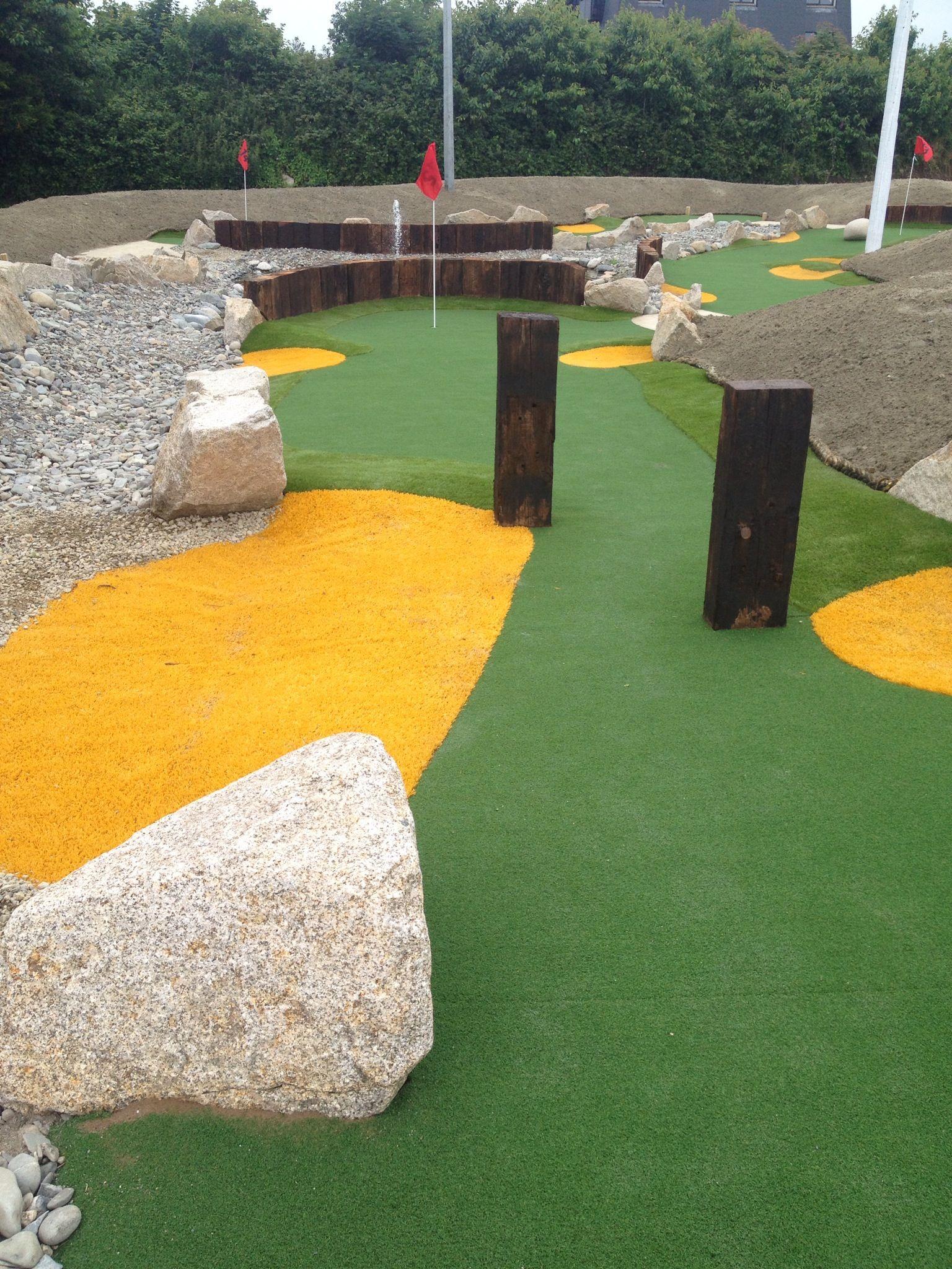 Pin On Minigolf Course Mini backyard golf course