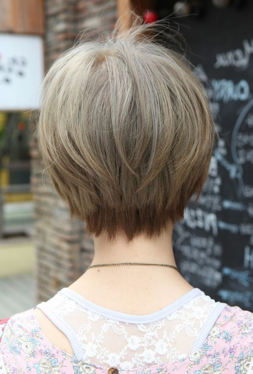 Image result for short haircuts for women over back view hairs