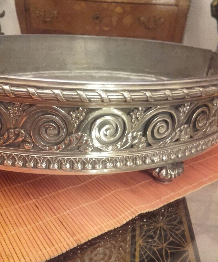 Centre De Table Ancien ancien centre de table jardinière bronze argenté christofle