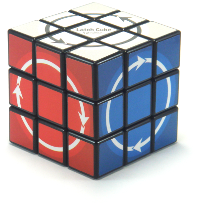 Latch Cube; This cube puzzle turns one-way only with arrows showing which way you can turn the face. much harder than the ordinary #rubik 's Cube. #brainteaser