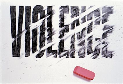 Typeverything.com - If we could only erase violence… by Mervyn Kurlansky.  (via Robert L. Peters)