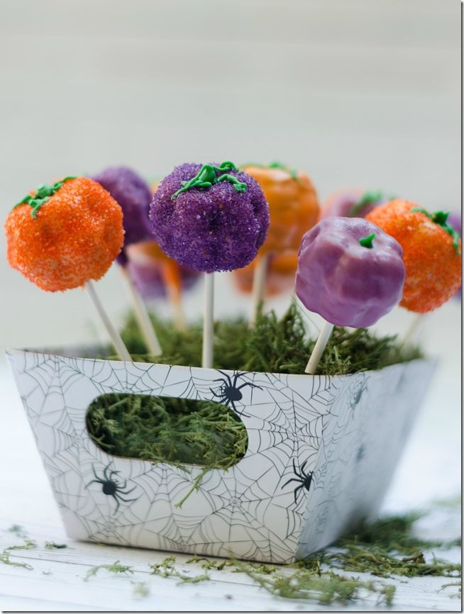Halloween treats Desserts Pinterest Pumpkin cake pops, Cake - halloween treat ideas