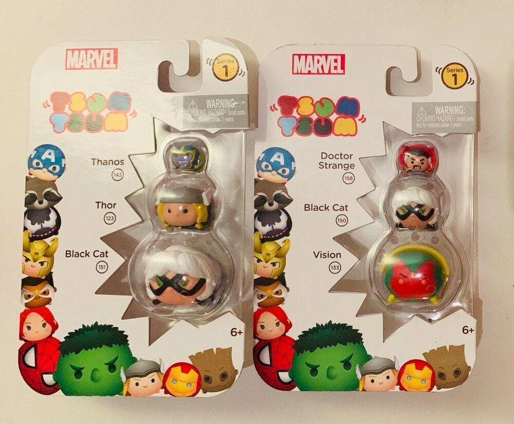 Lot of 2 packs Disney TSUM TSUM Marvel Series 1 NEW