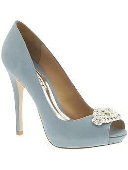 Badgley Mischka Goodie Piperlime Blue Wedding Shoes Wedding