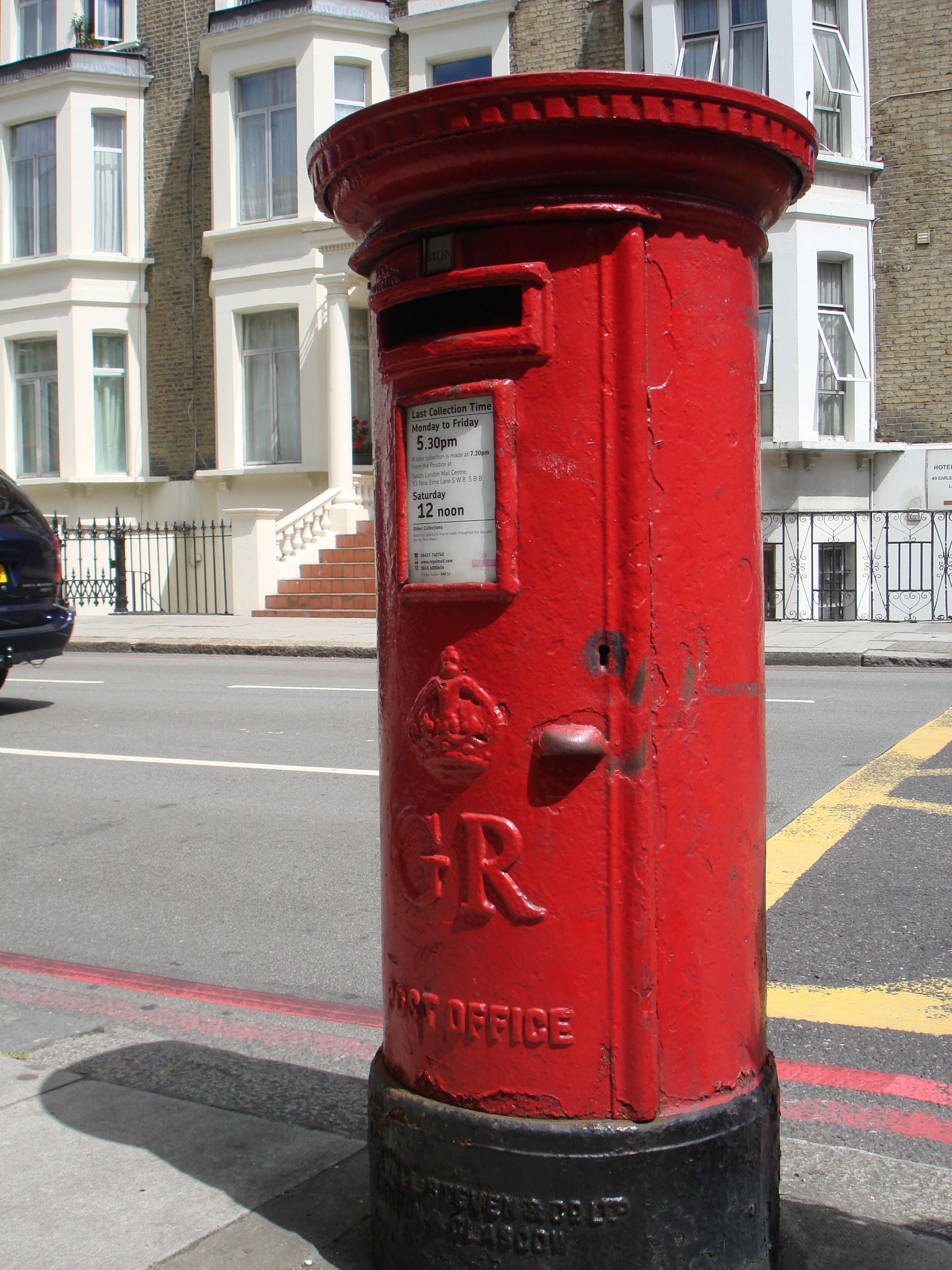 Postbox London England C 2010 L A Cecil Antique Mailbox