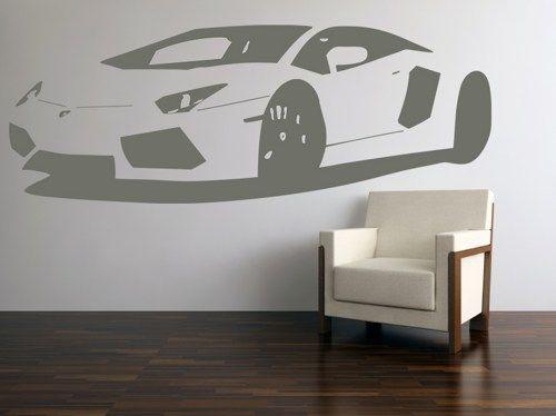 Vinyl Wall Art Decal Sticker Lamborghini Aventador