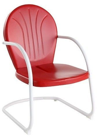 Metal Patio Arm Chair Red With Images Metal Outdoor Chairs Metal Chairs Outdoor Chairs