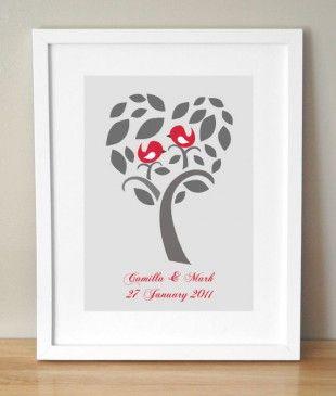Personalised Love Tree Art Print