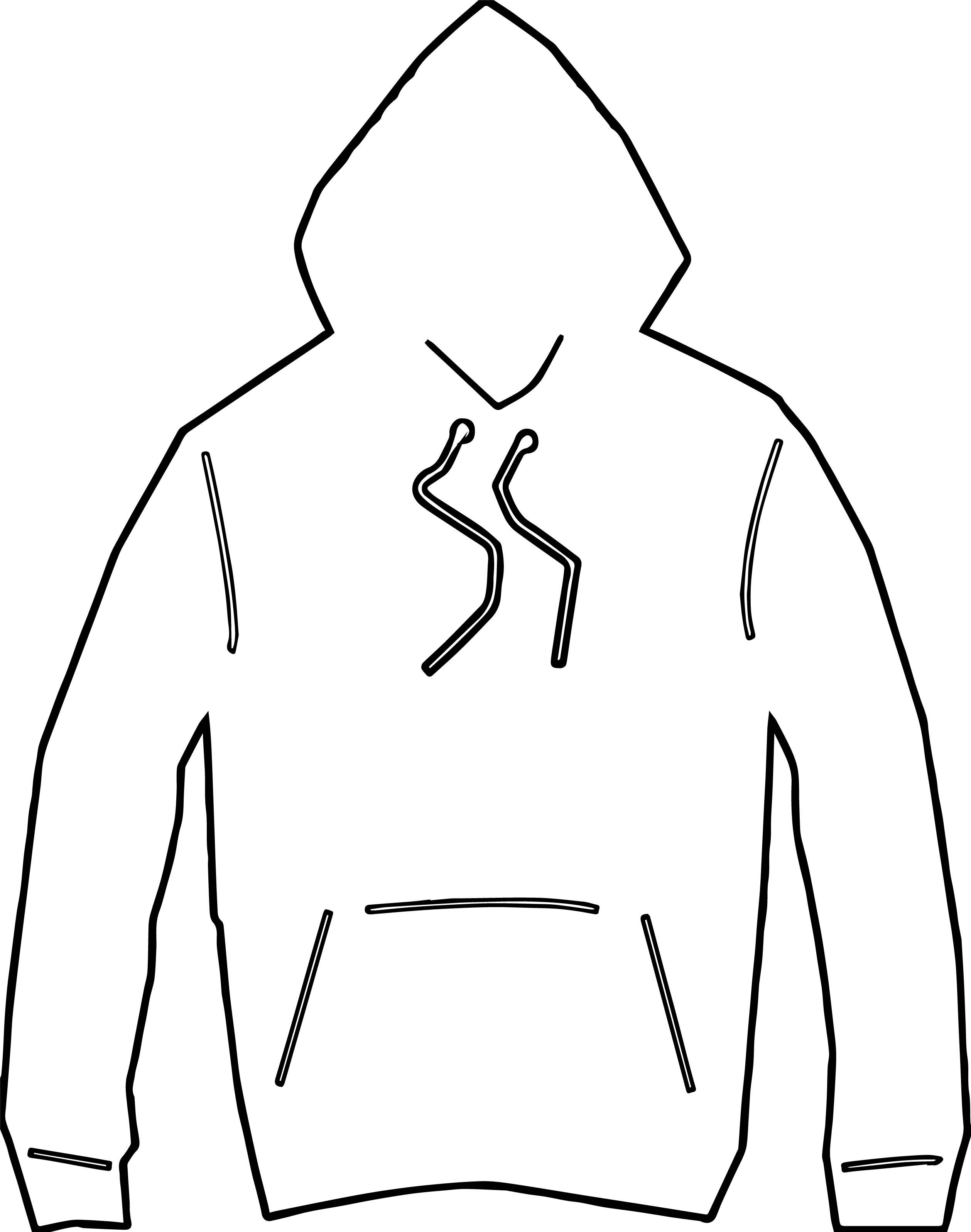 Awesome Any Hooded Jacket Coloring Page Coloring Pages For Boys