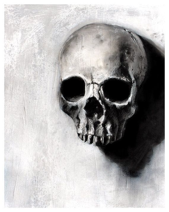 Found Series skull black and white art by TheHauntedHollowTree ...
