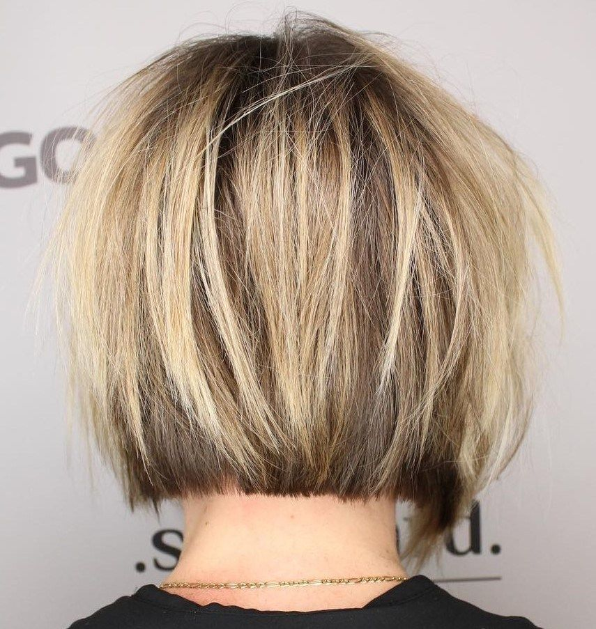 Blunt Bob With Messy Surface Layers Short Hair With Layers Thick Hair Styles Layered Hair