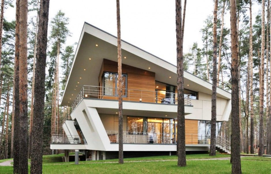 Contemporary House Near Moscow By Atrium Architects: Atrium Architects Designed This House For A Young Family