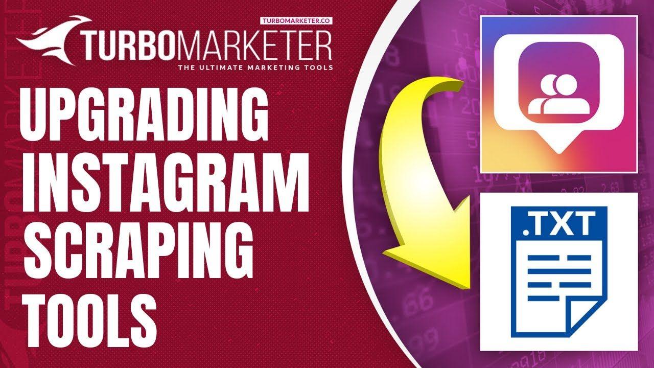 Instagram tool to scrape usernames for instagram upgrade