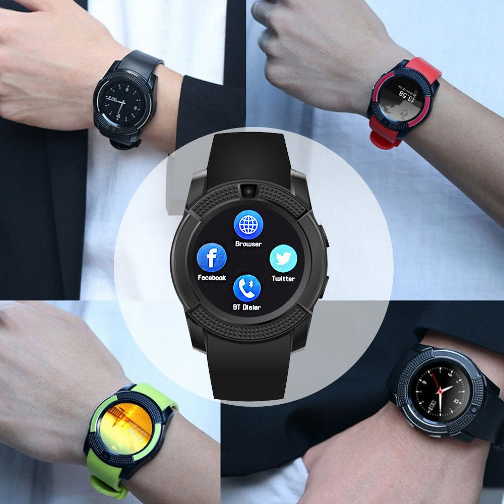 V8 Bluetooth Smart Wrist Watch SIM GSM Fitness Pedometer